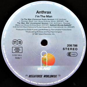 "Anthrax: I'm The Man (12"") - Bild 3"