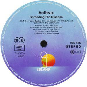 Anthrax: Spreading The Disease (LP) - Bild 3