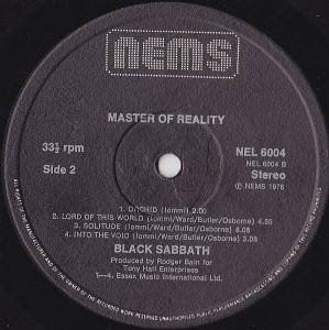 Black Sabbath: Master Of Reality (LP) - Bild 3