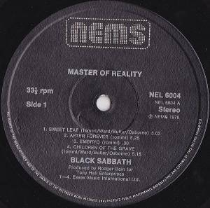 Black Sabbath: Master Of Reality (LP) - Bild 4
