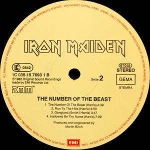 Iron Maiden: The Number Of The Beast (LP) - Bild 6