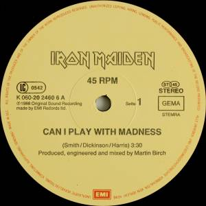 "Iron Maiden: Can I Play With Madness (12"") - Bild 3"
