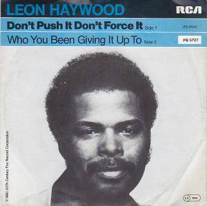 Leon Haywood: Don't Push It Don't Force It - Cover