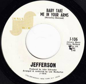 Cover - Jefferson: Baby Take Me In Your Arms