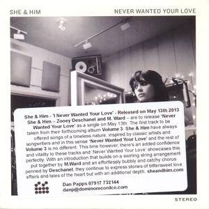 Cover - She & Him: Never Wanted Your Love