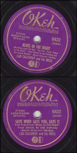 Cover - Cab Calloway & His Orchestra: Blues In The Night