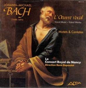 Cover - Johann Michael Bach: L'Œuvre Vocal: Motets & Cantates