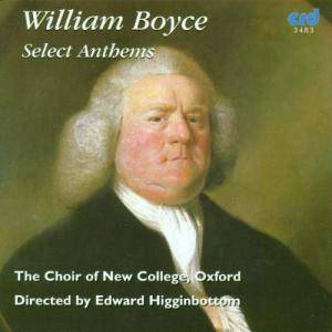 Cover - William Boyce: Select Anthems