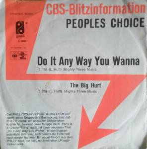 Cover - People's Choice, The: Do It Any Way You Wanna