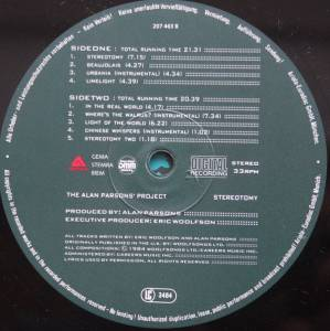 The Alan Parsons Project: Stereotomy (LP) - Bild 4