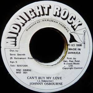 Cover - Johnny Osbourne: Can't Buy My Love