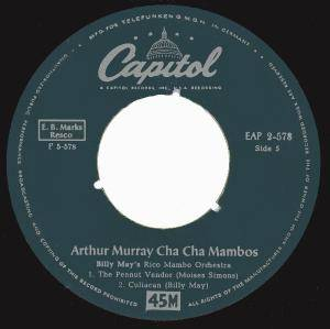 Cover - Billy May: Arthur Murray Cha Cha Mambos