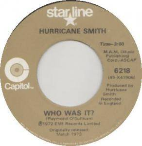 Cover - Hurricane Smith: Who Was It?