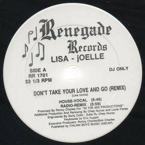 "Lisa - Joelle: Don't Take Your Love And Go (Promo-12"") - Bild 1"