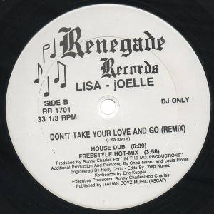 "Lisa - Joelle: Don't Take Your Love And Go (Promo-12"") - Bild 2"
