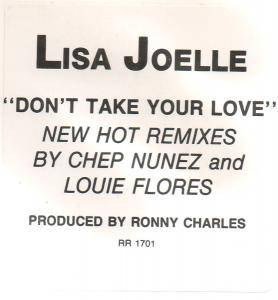 "Lisa - Joelle: Don't Take Your Love And Go (Promo-12"") - Bild 3"