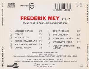 Frédérik Mey: Frederik Mey Vol. 2 (CD) - Bild 4
