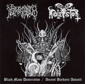 Cover - Necros Christos: Black Mass Desecration / Ancient Barbaric Assault