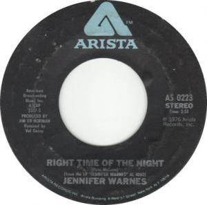 Cover - Jennifer Warnes: Right Time Of The Night