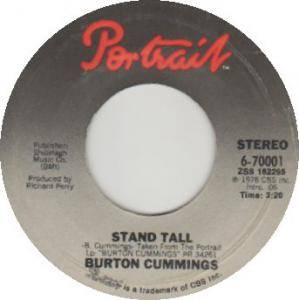 Cover - Burton Cummings: Stand Tall