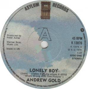 Cover - Andrew Gold: Lonely Boy