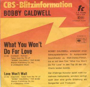 Cover - Bobby Caldwell: What You Won't Do For Love