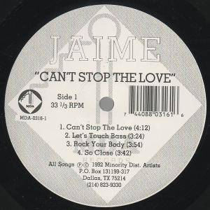 "Jaime: Can't Stop The Love (12"") - Bild 1"