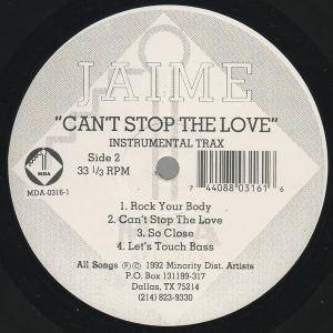 "Jaime: Can't Stop The Love (12"") - Bild 2"