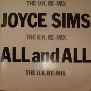 Cover - Joyce Sims: All And All (The U.K. Remix)