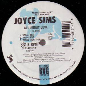 Cover - Joyce Sims: All About Love