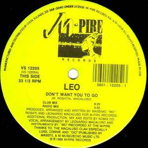 "Leo: Don't Want You To Go (12"") - Bild 1"