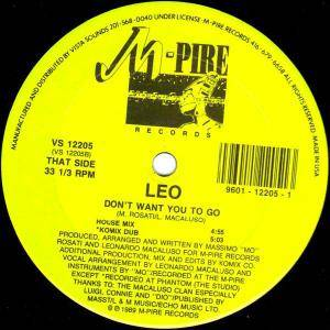 "Leo: Don't Want You To Go (12"") - Bild 2"