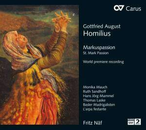 Cover - Gottfried August Homilius: Markuspassion
