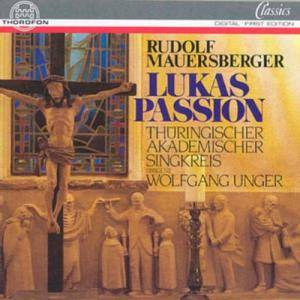Cover - Rudolf Mauersberger: Lukas-Passion