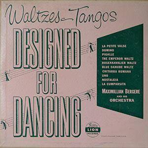 Cover - Mariano Mores: Waltzes &Tangos / Designed For Dancing