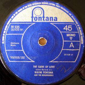 "Wayne Fontana & The Mindbenders: The Game Of Love (7"") - Bild 1"