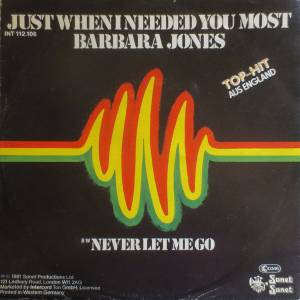 Cover - Barbara Jones: Just When I Needed You Most