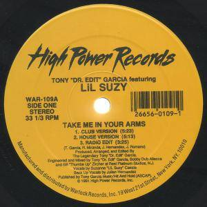 "Tony Garcia Feat. Lil Suzy: Take Me In Your Arms (12"") - Bild 1"