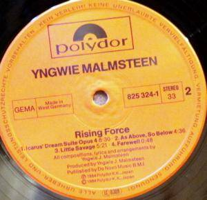 Yngwie J. Malmsteen's Rising Force: Rising Force (LP) - Bild 4