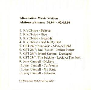 Cover - Jerry Cantrell: Alternative Music Station - Aktionszeitraum: 06.04 - 02.05.98