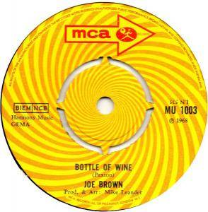 Cover - Joe Brown: Bottle Of Wine