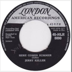 Cover - Jerry Keller: Here Comes Summer