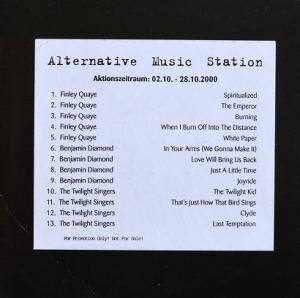 Cover - Twilight Singers, The: Alternative Music Station - Aktionszeitraum: 02.10. - 28.10.2000