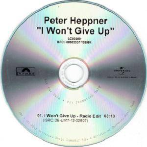 Peter Heppner: I Won't Give Up (Promo-Single-CD) - Bild 1