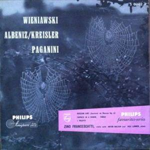 Cover - Henryk Wieniawski: Philips Favourites Series