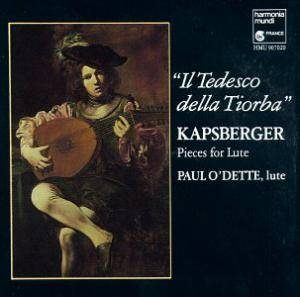 "Cover - Johann Hieronymus Kapsberger: ""Il Tedesco Della Tiorba"" - Pieces For Lute"