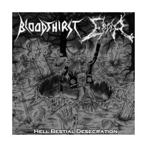 Bloodthirst: Hell Bestial Desecration - Cover