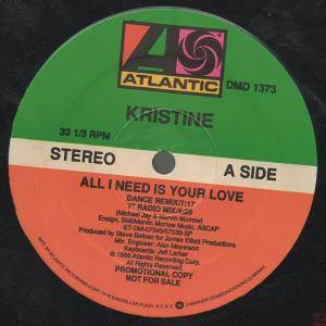 Cover - Kristine W: All I Need Is Your Love