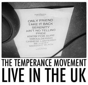 Cover - Temperance Movement, The: Live In The UK