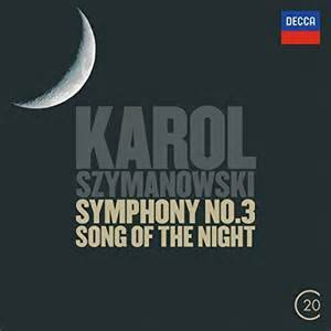 "Cover - Karol Szymanowski: Symphony No.3 ""The Song Of The Night"""